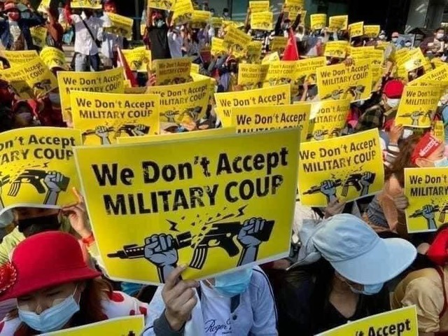 MeSheWe är med och uppmanar FN:s säkerhetsråd och medlemsländer att införa ett globalt vapenembargo mot Myanmar