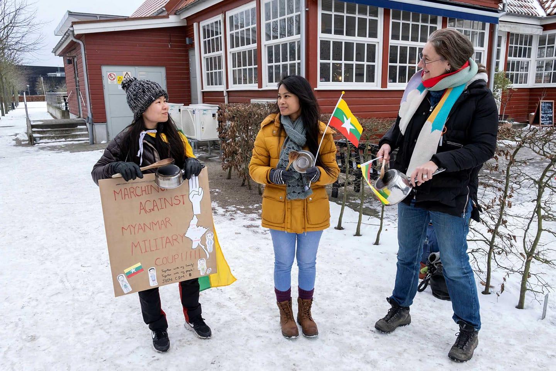 """Kastrullslagen ekar i Lund för Myanmars självständighet: """"Vi vill höras"""""""